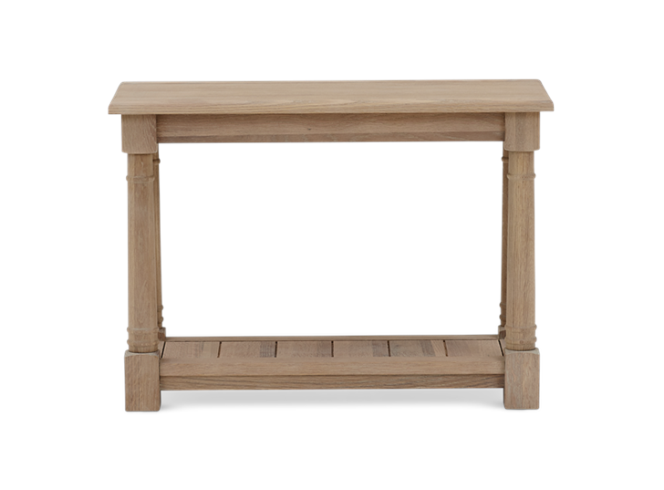 Edinburgh 70 Rectangular Lamp Table Oak Front