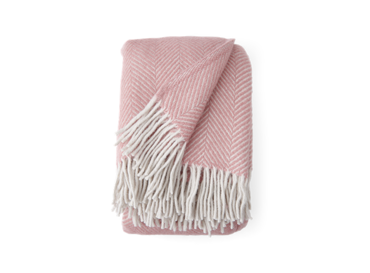 Cotswold Herringbone Throw Old Rose_Front