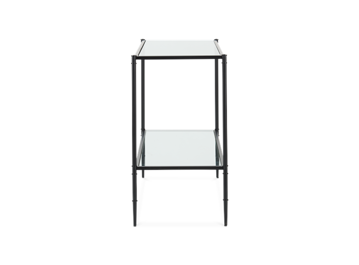 Coniston 120 Rectangular Console Table Black Bronze_Side