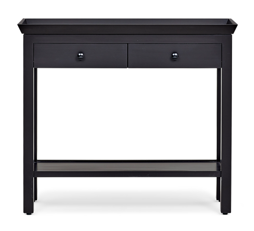 Aldwych small console Warm Black front