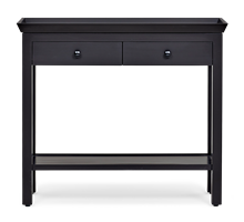 Aldwych Console Table, Small, Warm Black