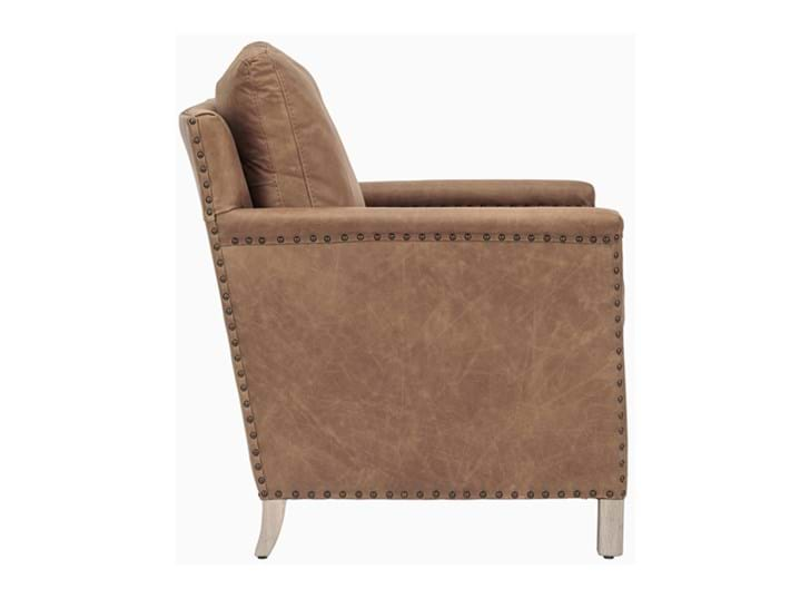 Caspar Armchair_St James Aged Tan_Leather_Side