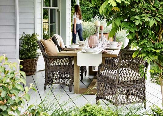 Pembrey Dining Table with Harrington Carver Chairs_Garden_Veranda_Al Fresco Dining