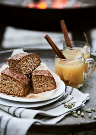 Parkin Cake and Hot Pear and Ginger