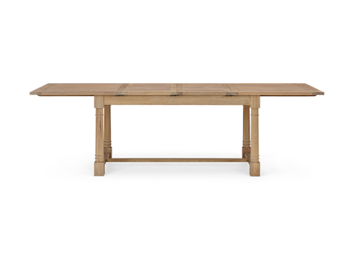 Edinburgh 150-240 Extending Table_Dark Vintage Oak_FrontExtended 1