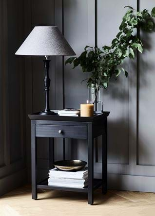 Aldwych Side Table with Fitzroy Large Painted Lamp