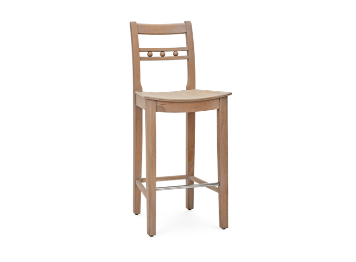 Suffolk Bar Stool_Seasoned Oak_3Quarter