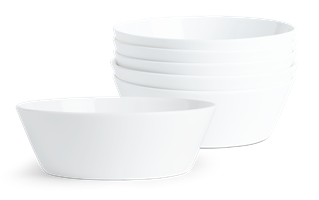 Fenton Bowls, set of 6, White