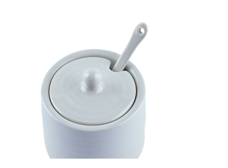 Lewes Spice Pot with Spoon Grey_Detail