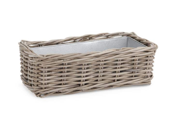 Littleton_Rectangular Zinc Lined Basket_45 x 23_3Quarter