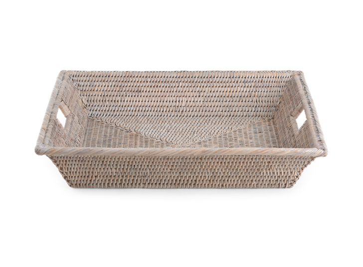 Ashcroft Square Tray Small Silver Reed Front
