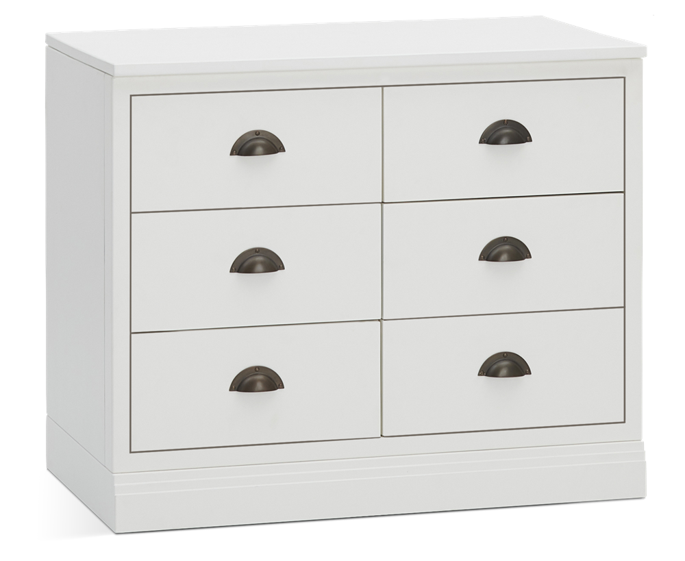 Chawton 3ft 6 Drawer Sideboard - Snow