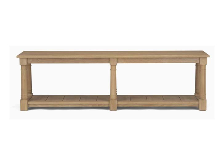 Edinburgh 160cm Bootroom Bench_Vintage Oak_Front