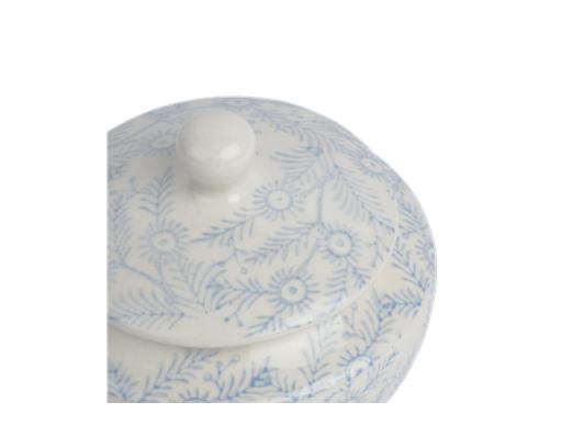 Olney Sugar Bowl - Flax Blue 4
