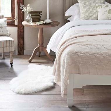 Southdown rug in bedroom