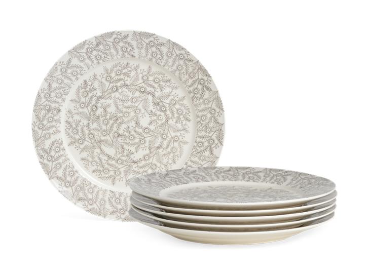 Olney Dinner Plate Set of 6 Walnut_Stack