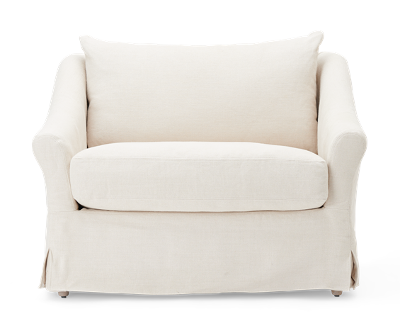 Long Island Love Seat Pale Oat_Front