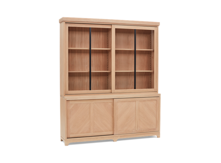 Holborn 6ft Glazed Dresser Natral Oak 005