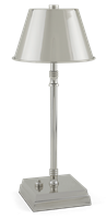 Hanover Small Cordless Lamp, Nickel