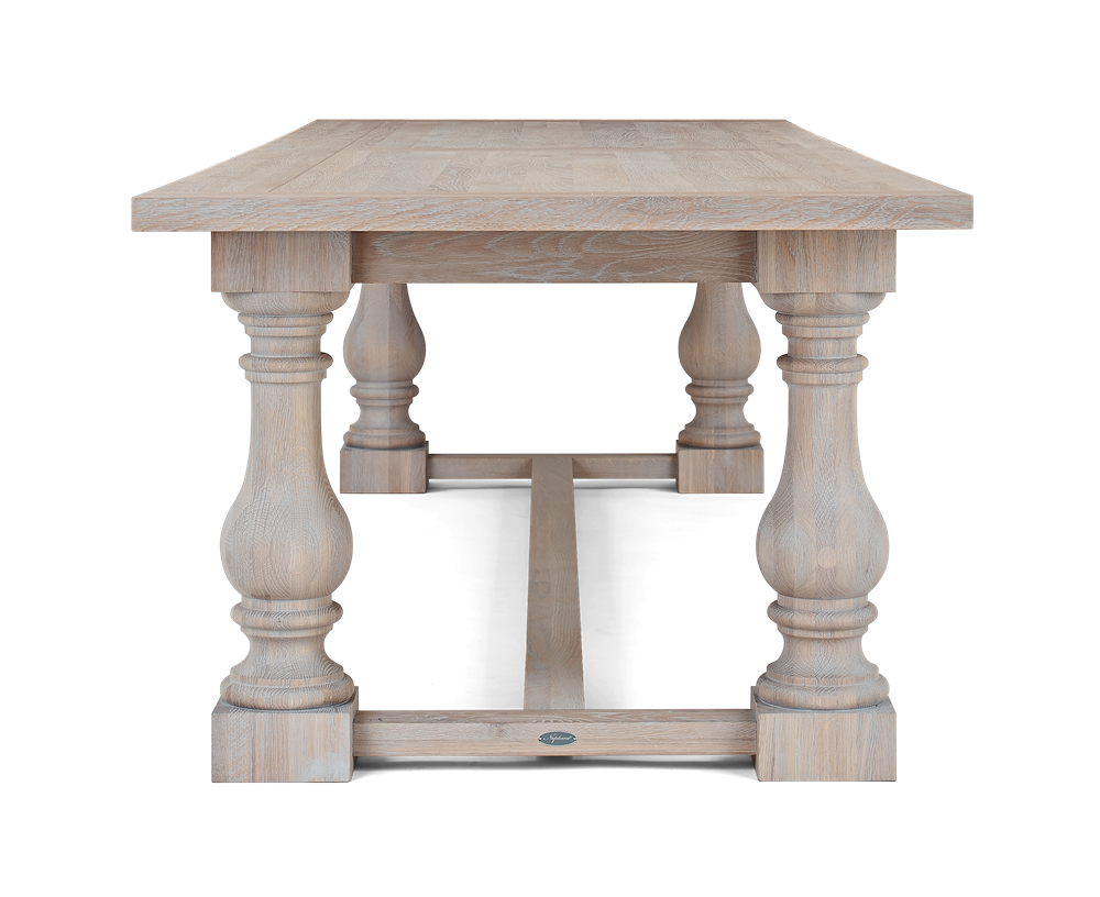 Balmoral 240 Rectangular Table_Seasoned Oak_Side