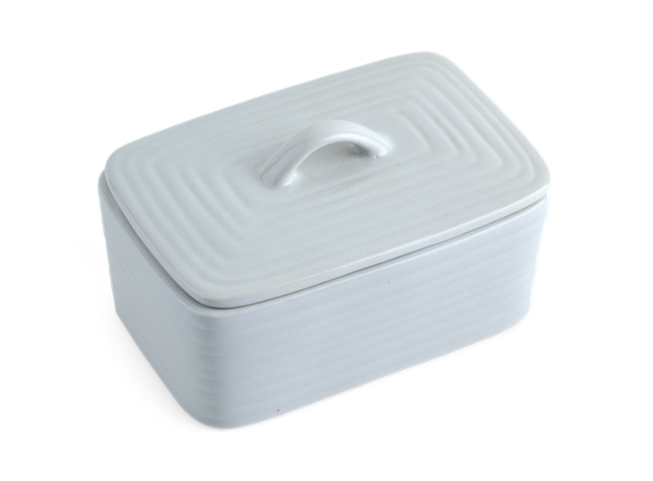 Lewes Butter Dish Grey_Top