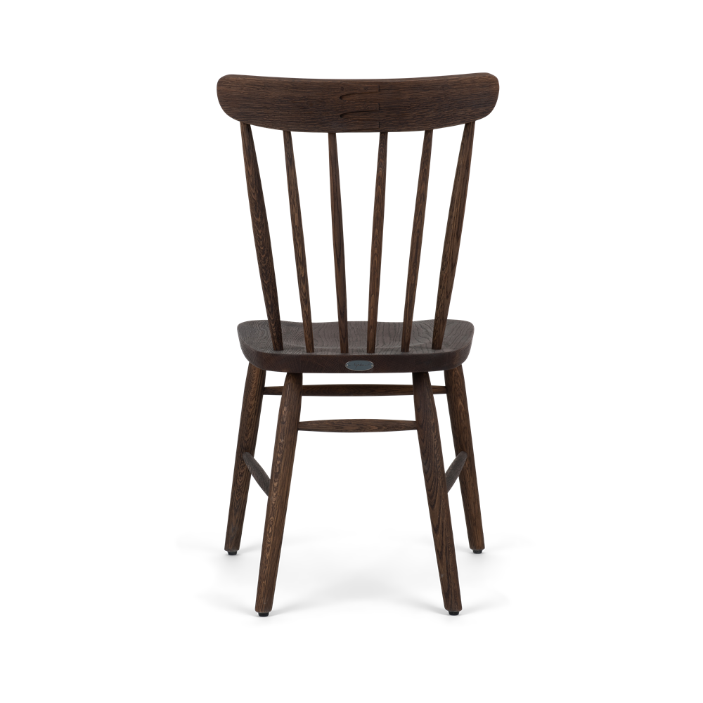 Wardley dining chair, darkened oak, back copy