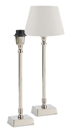 Hanover Tall Medium Nickel Lamp Base