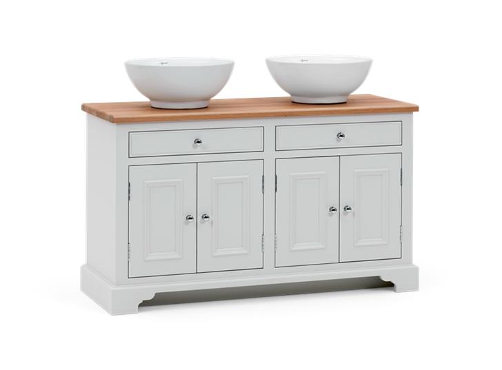 Chichester 1240 Oak Countertop Washstand -Shell-Shell 3Q