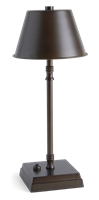 Hanover Small Cordless Lamp, Bronze
