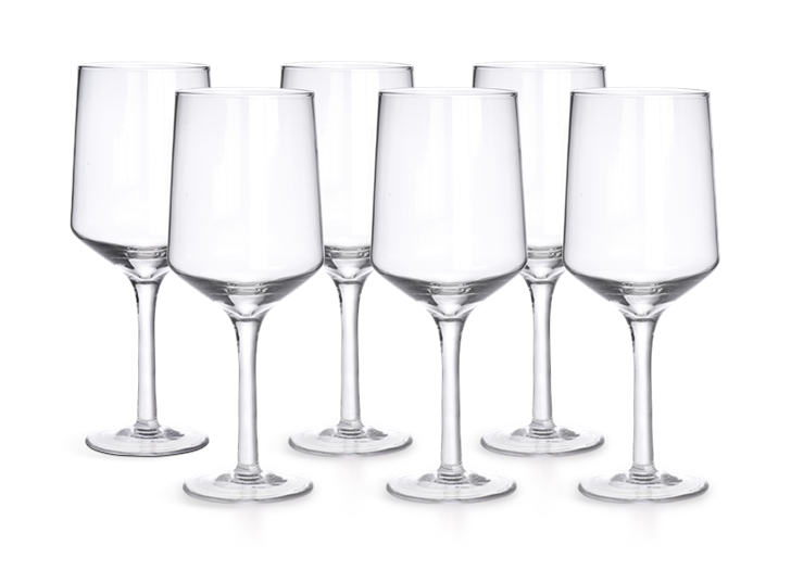 Hoxton Red Wine Glasses, Set of 6 Group