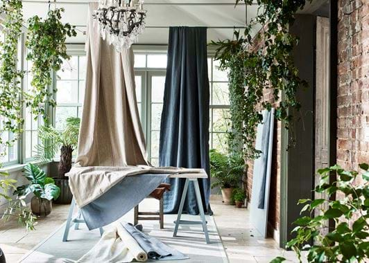 Seasonal fabric installation