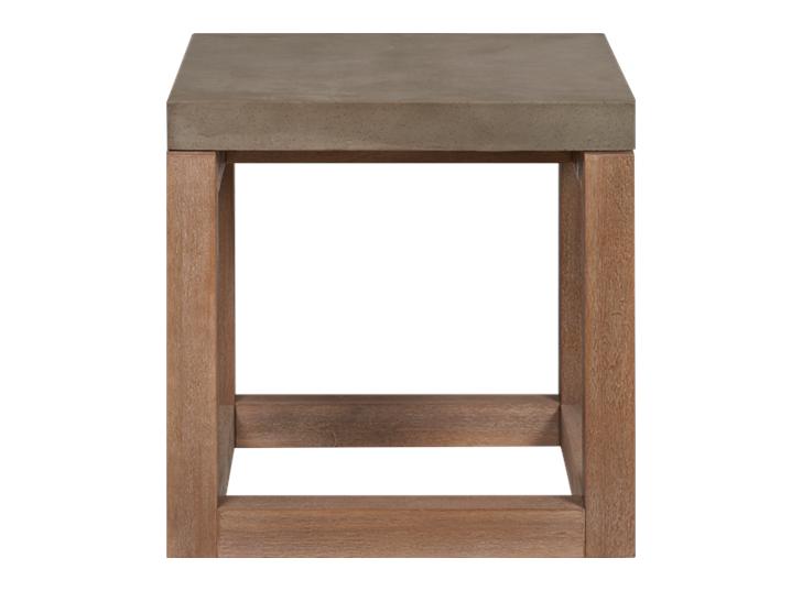 Hove Square Side Table_Garden Furniture_Concrete Top