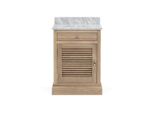 Edinburgh 640 Undermount Washstand With Basin Left-Door-VO-Vintage Oak Front