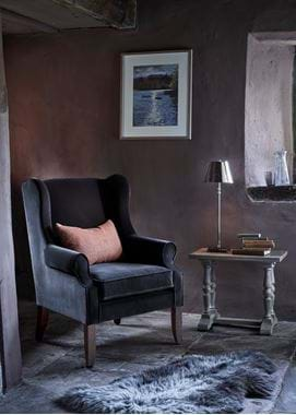 Dominic armchair with Caledonia print