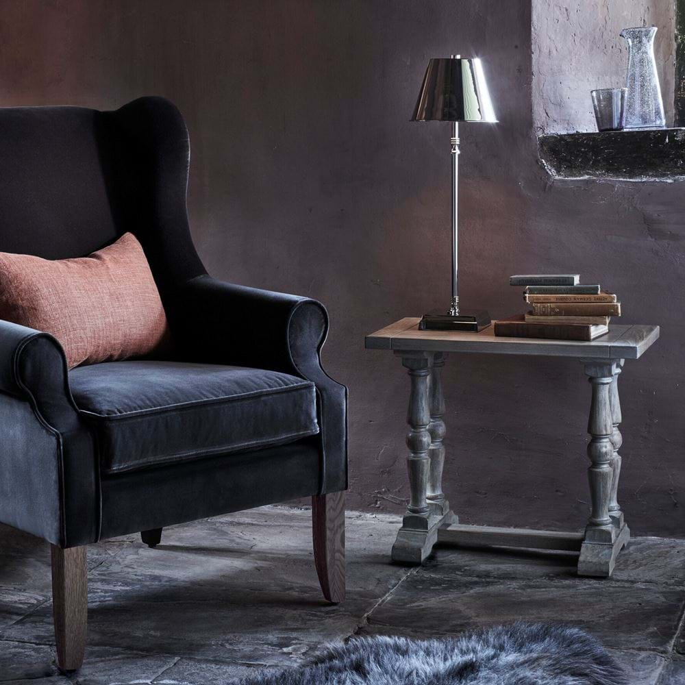 Dominic Armchair with Cordless Hanover Lamp