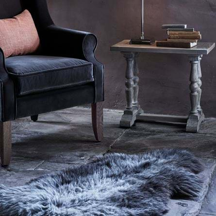 Herdwick sheepskin and Dominic armchair