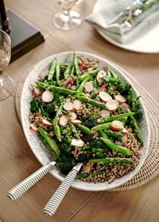Easter menu asparagus and lentils