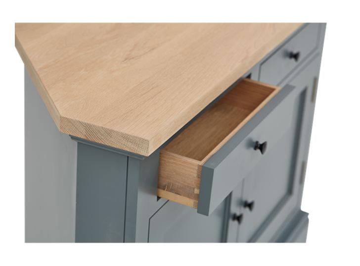 Henley 3ft 6in AV Corner Cabinet Detail 01