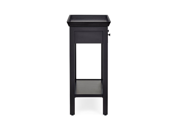 Aldwych small console Warm Black side