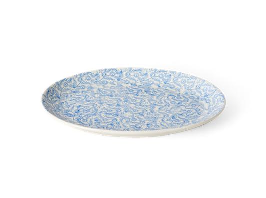 Olney serving platter, medium, flax blue_side