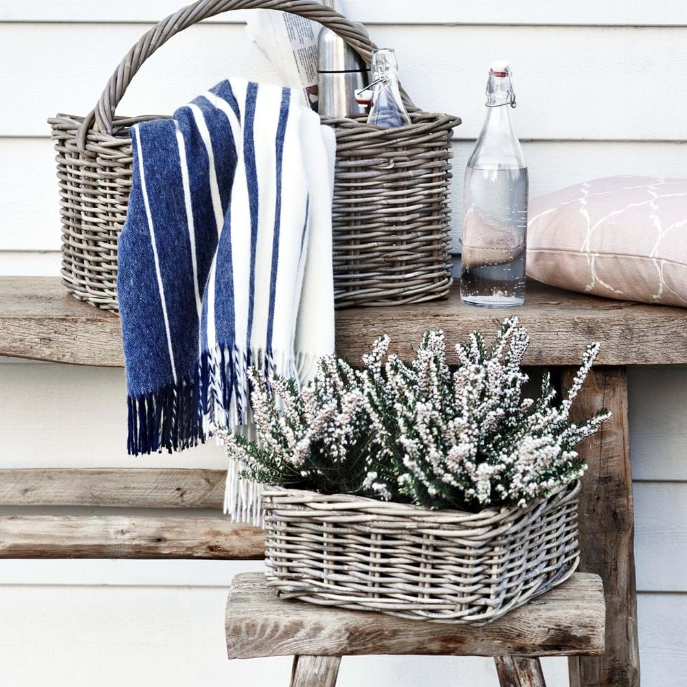 Littleton Square Zinc Lined Basket