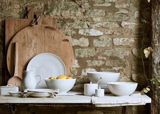 Lewes Serving bowl, Large - Grey