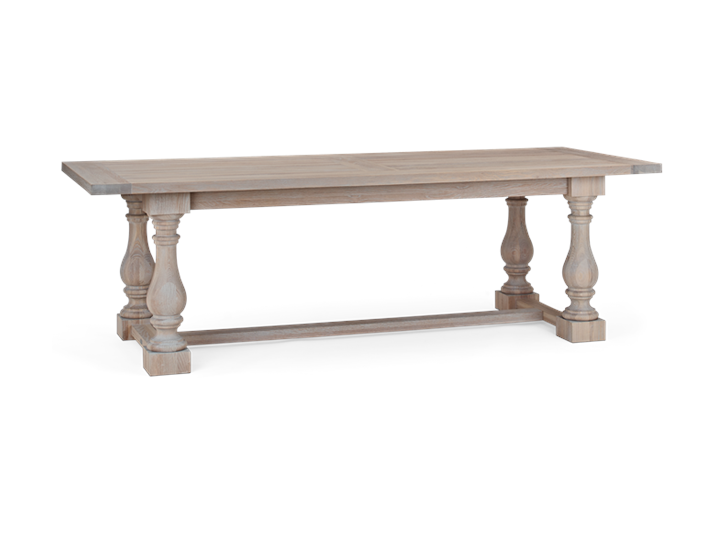 Balmoral 240 Rectangular Table_Seasoned Oak_3Quarter