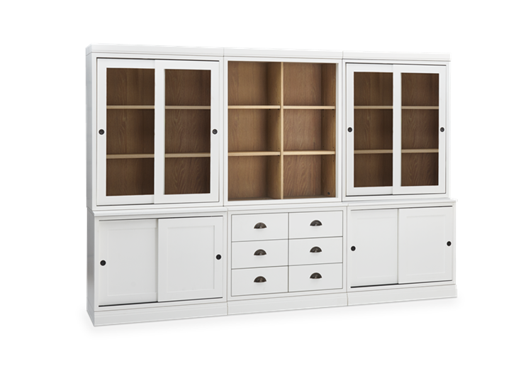 Chawton Low Triple Dresser - Snow