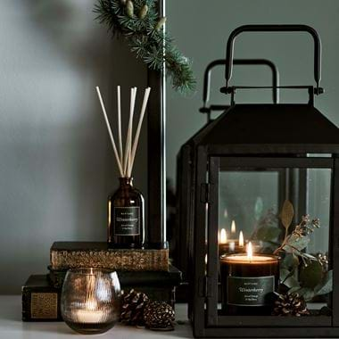 Browning festive candles