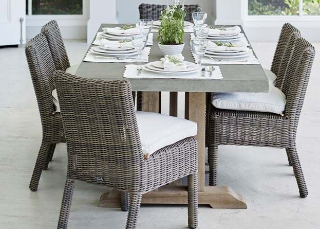 Hove 6-seater set with Toulston chairs