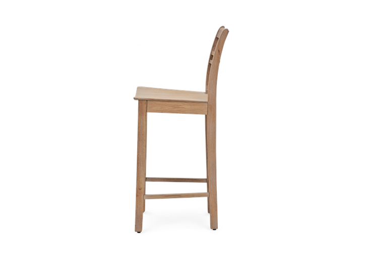 Suffolk Bar Stool_Seasoned Oak_Side