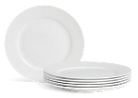 Fenton Side Plates, set of 6, White