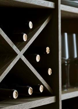 Chawton Oak Wine Shelf Detail