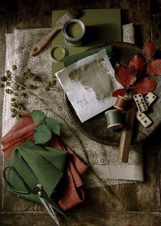 AW20 moodboard Olive-Honed slate
